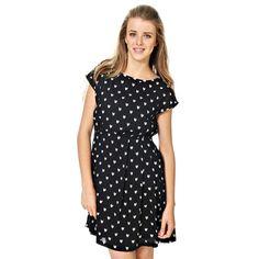 Váy Vila họa tiết. Khoét lưng. Độ dài ở cỡ S 86 cm. Chất liệu: 100% viscose. Model: 14011881 Dotwolf Dress