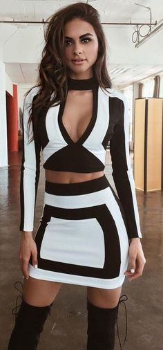 #summer #tigermist #outfits | Black and White Kylie Set
