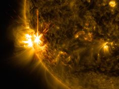 Wow...the sun is having a temper tantrum.   See photos and images of the biggest solar flares of 2014 in this SPACE.com gallery of photos by NASA spacecraft and solar astronomers.  Amazing pictures.
