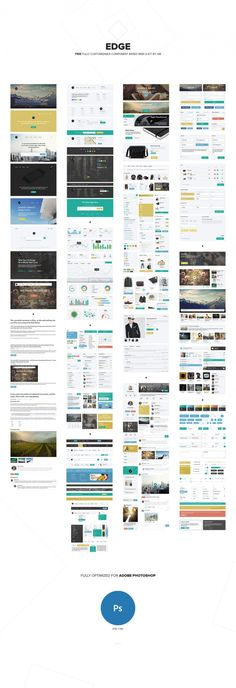 Edge is a fantastic new component based UI kit you'll find most useful for web designing. It includes elements of e-commerce, social media, blog, multimedi - posted under Freebies tagged with: Alert, Buttons, Calendar, Chart, Checkbox, Dropdown, Flat, Form, Free, Graph, Icon, Menu, Navigation, Notification, Pagination, Player, Profile, Progress, PSD, Radio, Resource, Search Field, Sign in, Sign up, Slider, Switch, Tag, Toggle, Tooltip, UI, Weather, Widget by Fribly Editorial