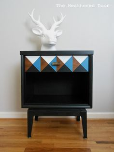 Geometric Nightstand