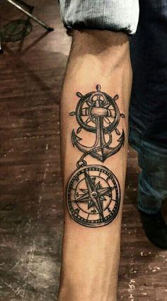 compass tattoos arm, forarm tattoos, forearm tattoos for men, forearm tattoo Compass Tattoos Arm, Arm Tattoos Anchor, Forarm Tattoos, Cool Forearm Tattoos, Forearm Tattoo Design, Design Tattoo, Best Tattoo Designs, Arrow Tattoos, Sleeve Tattoos