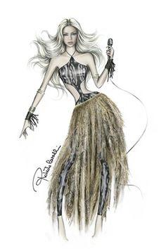Mi cantante y bailarina favoritaaaaa de todos los tiempos.   #Shakira dress by Roberto Cavalli - World Cup 2010