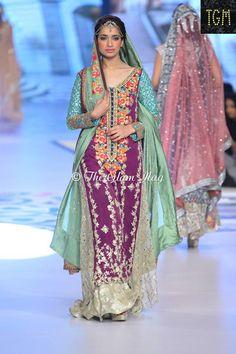 Tena Durani at Pantene Bridal Couture Week 2014, Karachi PBCW. Pinned by Zartasia
