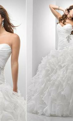 Sottero- i like the ruffles in case I were to get married at the arbor terrace