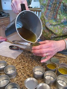Making herbal hand balm is easy and economical. We also have a recipe for scented linen water!