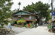 Streets of Koh Phangan Koh Phangan, Bus Tickets, Thailand, Cabin, Island, Street, House Styles, Home Decor, Decoration Home