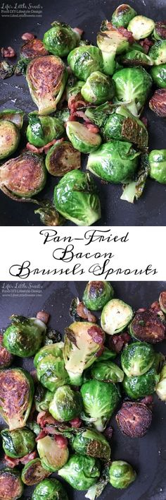 Pan-Fried Bacon Brussels Sprouts is a delicious, savory side dish that needs to…