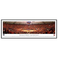 Illinois Fighting Illini Basketball Arena Framed Wall Art, Multicolor