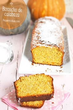 Bizcocho de calabaza, receta paso a paso Healthy Desserts, Delicious Desserts, Dessert Recipes, Yummy Food, Calabaza Recipe, Pan Dulce, Sweet Cakes, Sweet Bread, Pumpkin Recipes