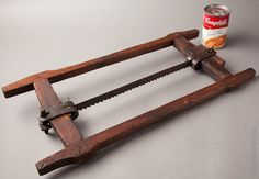 Fantastic! 18th Century Framed Saw