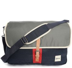 EASTPAK Grey/Navy Pucker Pr Two-Tone Shoulder Bag 20 L