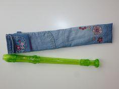 ich brauch stoff !!!: Upcycling zur Flötentasche