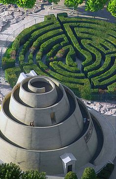 National Theater, complete with snail look-out point and maze. Budapest, Hungary