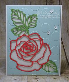 Rose Garden Thinlits Card - www.dreamingaboutrubberstamps.com - To stamp or not to stamp? With the Rose Wonder stamps & Rose Garden Thinlits from Stampin' Up!, you can choose to add a handstamped image to your card or not