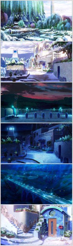 Nagi no Asukara ep 10- The scenery is just so BEAUTIFUL!!!