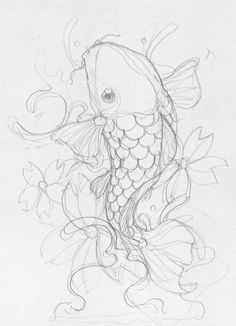 this with blue water swirls,pink lotus flowers, and a black and white fish. just needs a dragon head and it would be perfect