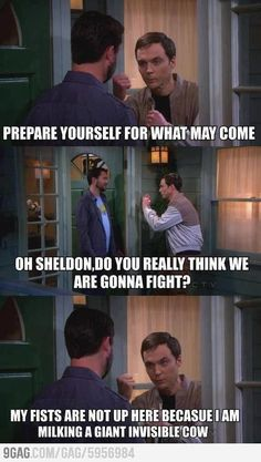 Sheldon fighting