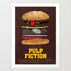 Pulp Fiction - Movie Poster Art Print by Joel Amat Güell