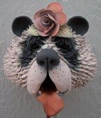 Kooky, crazy, original and awesomely artistic bird houses! Love it! Panda Bear