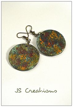 """It's all about the crackles"" polymer clay earrings"