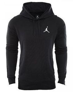 420f033dce5e2e Jordan Flight Pullover Hoodie Mens 809453-010 Black Hoody Sweatshirt Size XL