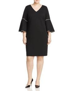 Calvin Klein Plus Bell Sleeve Sheath Dress | Bloomingdale's