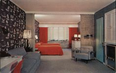 Kirby's Motel - Ultra Modern Rochester New York. 5 miles west of Rochester, N.Y. on Route 104. Unit #23 with kitchenette, private ceramic tile bath, tub and shower. Wall to wall carpet. T.V. radio and telephone in room.