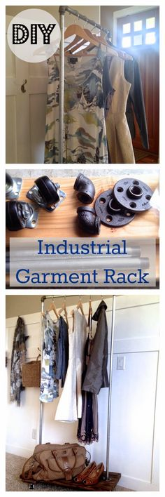 tutorial: how to make a DIY industrial garment rack, with wheels!