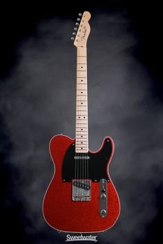 Fender Custom Shop Dual Tone Top Bound Telecaster NOS - Red Sparkle/Blue Sparkle | Sweetwater.com | Solidbody Electric Guitar with Ash Body, Maple Neck and Fingerboard, Two Single-coil Pickups, and Hard Case - Red Sparkle/Blue Sparkle