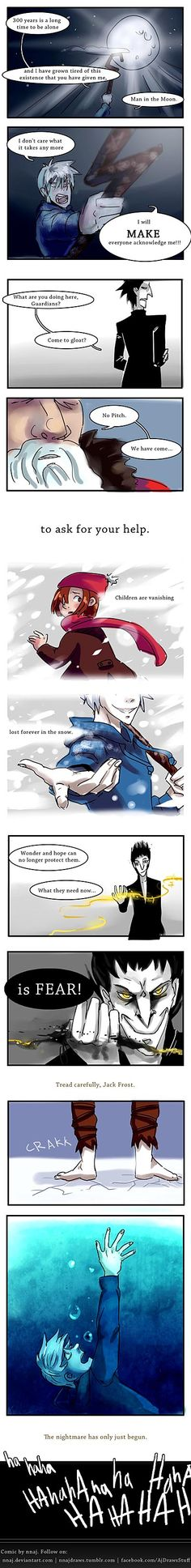 RotG: Good Pitch vs Evil Jack by nnaj.deviantart.com on @deviantART - A short comic speculating how Rise of the Guardians would play out had Jack and Pitch's roles been reversed.