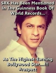 srk in guinness book