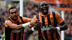 Ahmed Elmohamady (left) and Mohamed Diame celebrate the latter's goal in Hull City's away win at Middlesborough, which keep the Tigers at the top of the Championship table Sons Day, Daddy And Son, Hull City, English Premier League, Middlesbrough, The Championship, Crystal Palace, Tottenham Hotspur, Football