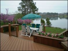 A railing system and lighting rounds out this alternative decking solution by Casa Decks.