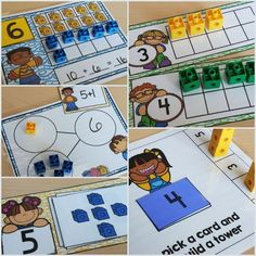 snap cube math centers for number sense, addition and subtraction. includes ten frames and number bonds