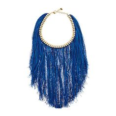 Rosantica Women Atena Fringed Necklace ($360) ❤ liked on Polyvore featuring jewelry, necklaces, nickel free necklaces, rosantica, rosantica jewelry, fringe necklaces and adjustable necklace
