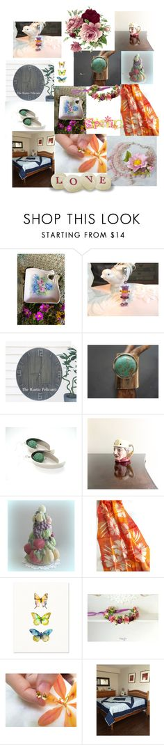 """Spring Gifts"" by anna-recycle ❤ liked on Polyvore featuring Progetto, modern, rustic and vintage"