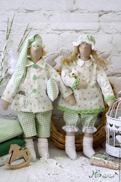 """Купить Тильда Сплюшки """"Свежее утро!"""" - салатовый, светло-зеленый, сплюшки, тильда сплюшки"""
