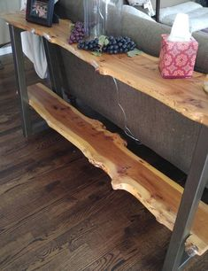Raw edge shelves decor ideas 2