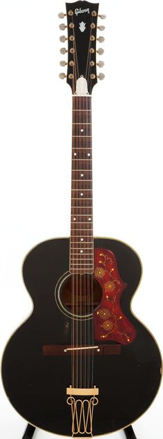 David Guards 1960 Gibson J-200 Custom Black 12-String Acoustic Guitar