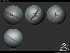ArtStation - 18 Zbrush изящные Рок Кисти, Йонас Ronnegard