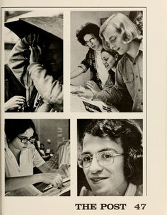 """Athena Yearbook, 1973. """"The Post"""" Students work to finish the next issue of The Post. :: Ohio University Archives"""