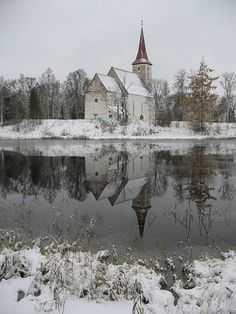 Makes me think of one of my mom's favorite songs - Little Brown Church in the Vale - even tho it isn't brown :)