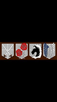 Attack on titan logos