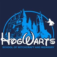 hogwarts harry potter witchcraft wizard t shirt Textual Tees