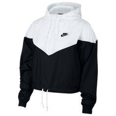 Nike Sportswear Cropped Hooded Windbreaker - Jacken und Blazer - Frauen - Macy & # s Source Teen Fashion Outfits, Sporty Outfits, Swag Outfits, Trendy Outfits, Cute Nike Outfits, Womens Fashion, Fashion Ideas, Fashion Trends, Girl Fashion