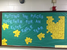 High School Bulletin Boards | Each puzzle piece is again a quality or behavior of our elite eagles!