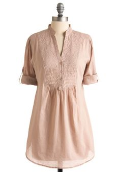 Maybe something like this with the red skinny jeans I want. (Gathering Seashells Tunic in Blush)