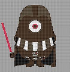 Minion Darth Vader cross stitch Created by me