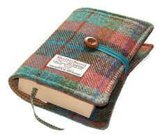 Book Cover Harris Tweed Autumn Days by WhimsyWooDesigns on Etsy